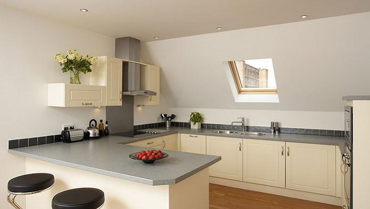 Equipped kitchen in SACO Derby - The Millhouse - Citybase Apartments