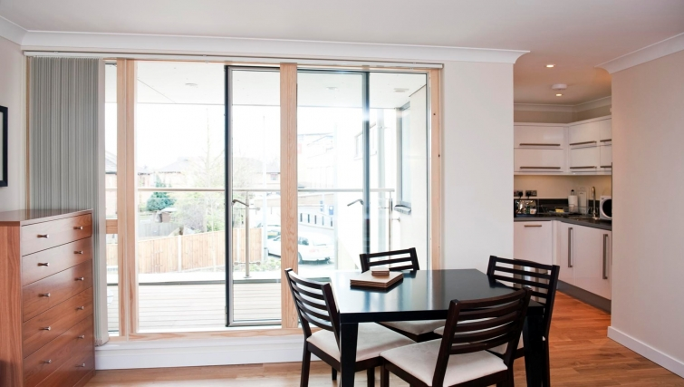 Modern dining area in Byron House Apartments - Citybase Apartments