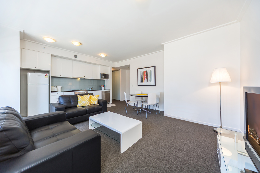 Living area at Astra Apartments Sydney CBD Rex - Citybase Apartments