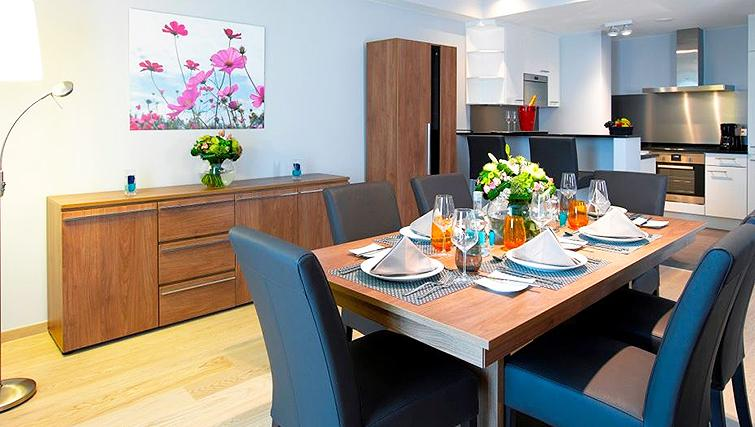 Dining area at Thon Residence FlorenceApartments - Citybase Apartments