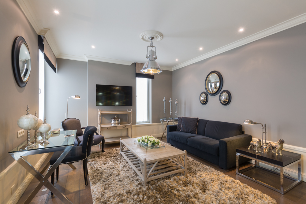 Spacious living area at Stanhope Residence Apartments - Citybase Apartments