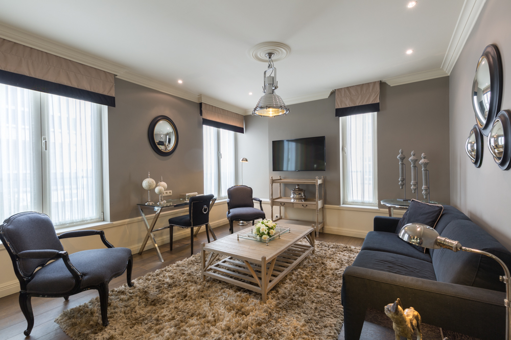 Living area at Stanhope Residence Apartments - Citybase Apartments