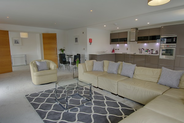 Living room at The Residence Apartments - Citybase Apartments