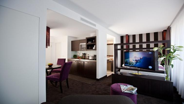Classy living area in Goodmans Living Apartments - Citybase Apartments