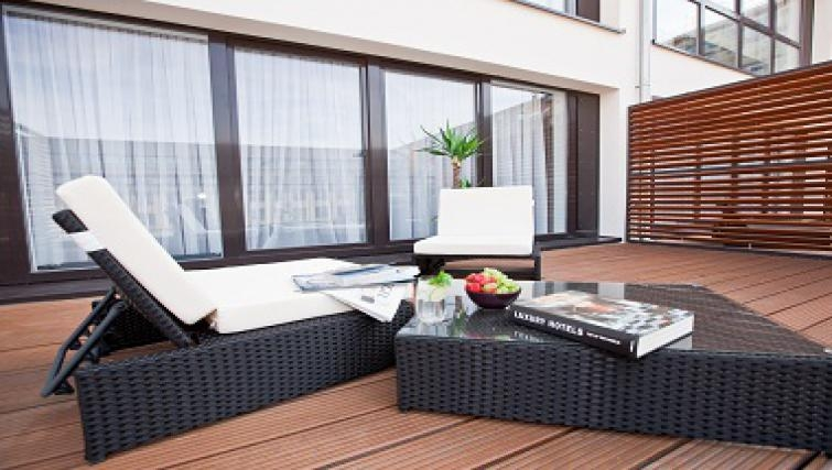 Private balcony in Goodmans Living Apartments - Citybase Apartments