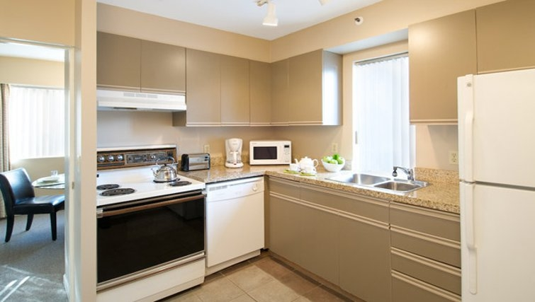 Ideal kitchen in Rosellen Suites at Stanley Park - Citybase Apartments