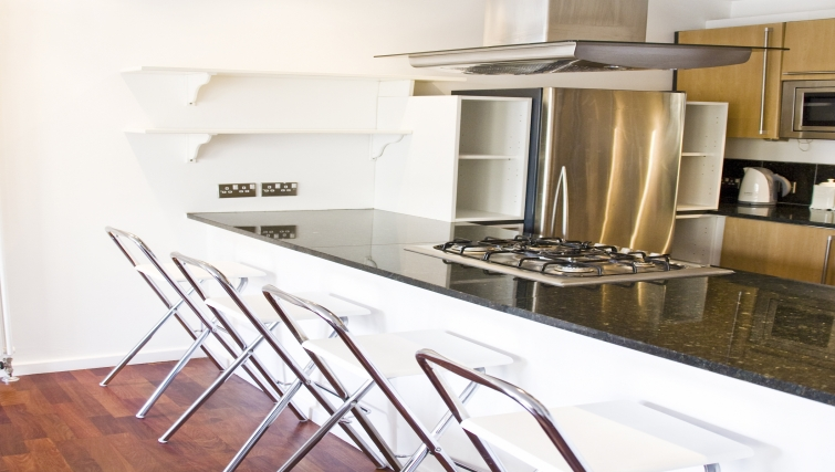 Modern kitchen at Exchange Apartments - Citybase Apartments