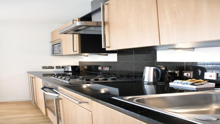 Equipped kitchen at Exchange Apartments - Citybase Apartments