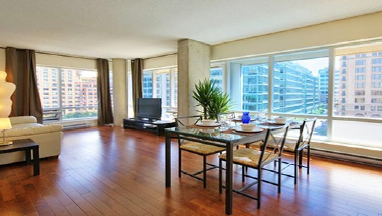 Modern dining area in Le 1009 Apartments - Citybase Apartments