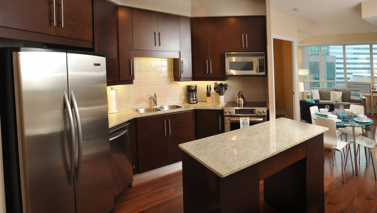 Gorgeous kitchen in 20 Blue Jays Way - Citybase Apartments