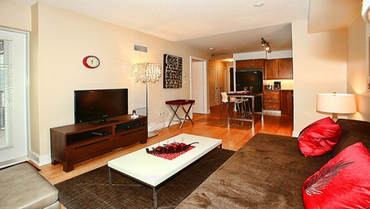 Desirable living area in 20 Blue Jays Way - Citybase Apartments