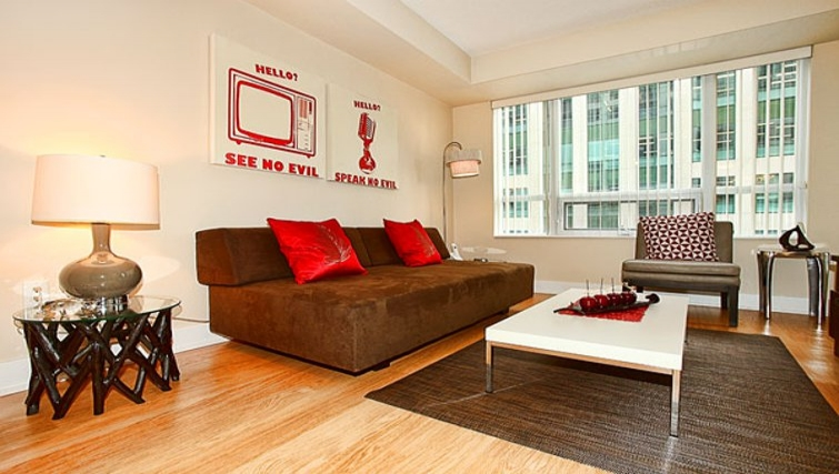 Delightful living area in 20 Blue Jays Way - Citybase Apartments