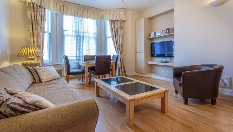 Open plan living area at Castletown House - Citybase Apartments