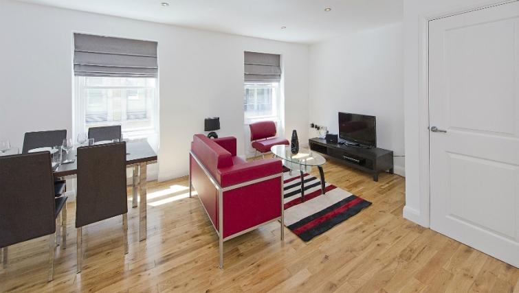 Modern living area in Native London Bridge Apartments - Citybase Apartments
