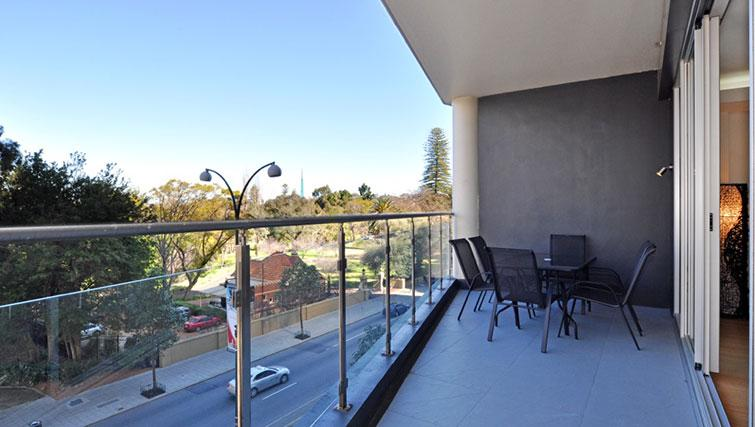 Balcony at Astra Perth CBD St Georges Terrace - Citybase Apartments