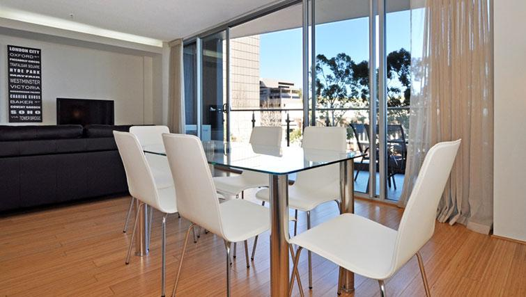 Modern living area in Astra Perth CBD St Georges Terrace - Citybase Apartments