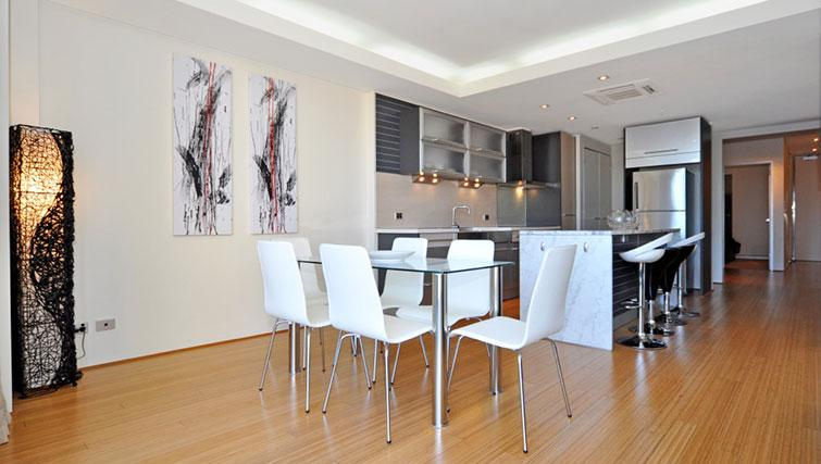 Kitchen/dining area in Astra Perth CBD St Georges Terrace - Citybase Apartments
