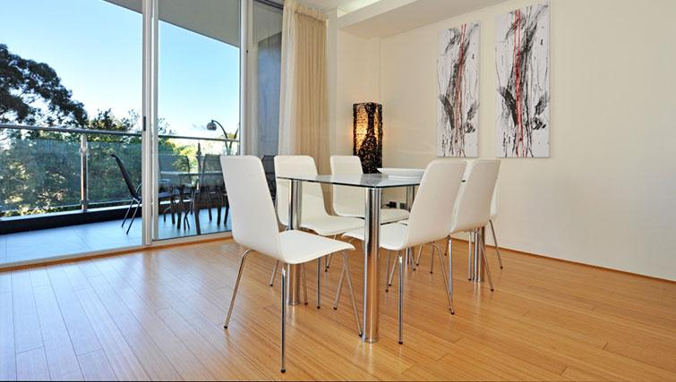 Simplistic dining area in Astra Perth CBD St Georges Terrace - Citybase Apartments