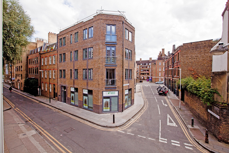 Exterior at One Whites Row Apartments, Liverpool Street, London - Citybase Apartments