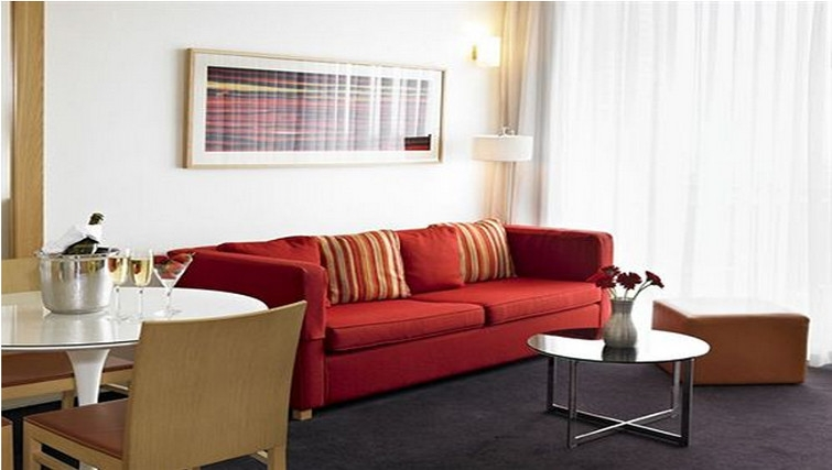 Sophisticated living area at Adina Apartment Hotel Copenhagen - Citybase Apartments