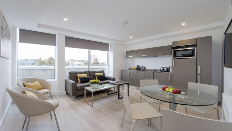 Gorgeous living area in The Rosebery Aparthotel - Citybase Apartments