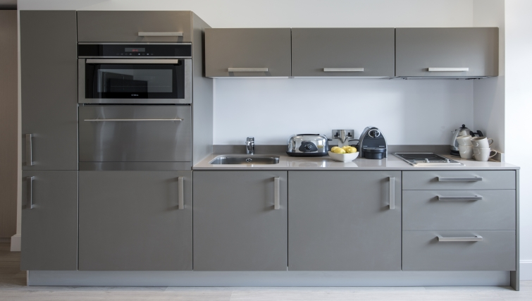 Equipped kitchen in The Rosebery Aparthotel - Citybase Apartments