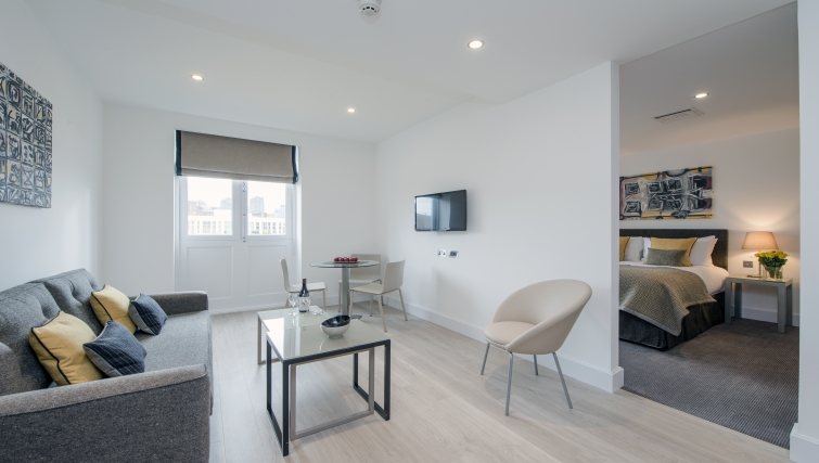 Stylish living area in The Rosebery Apartments - Citybase Apartments