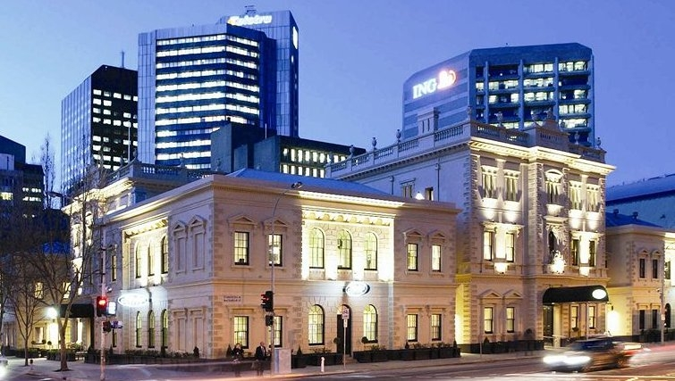 Majestic exterior of Adina Apartment Hotel Adelaide Treasury - Citybase Apartments