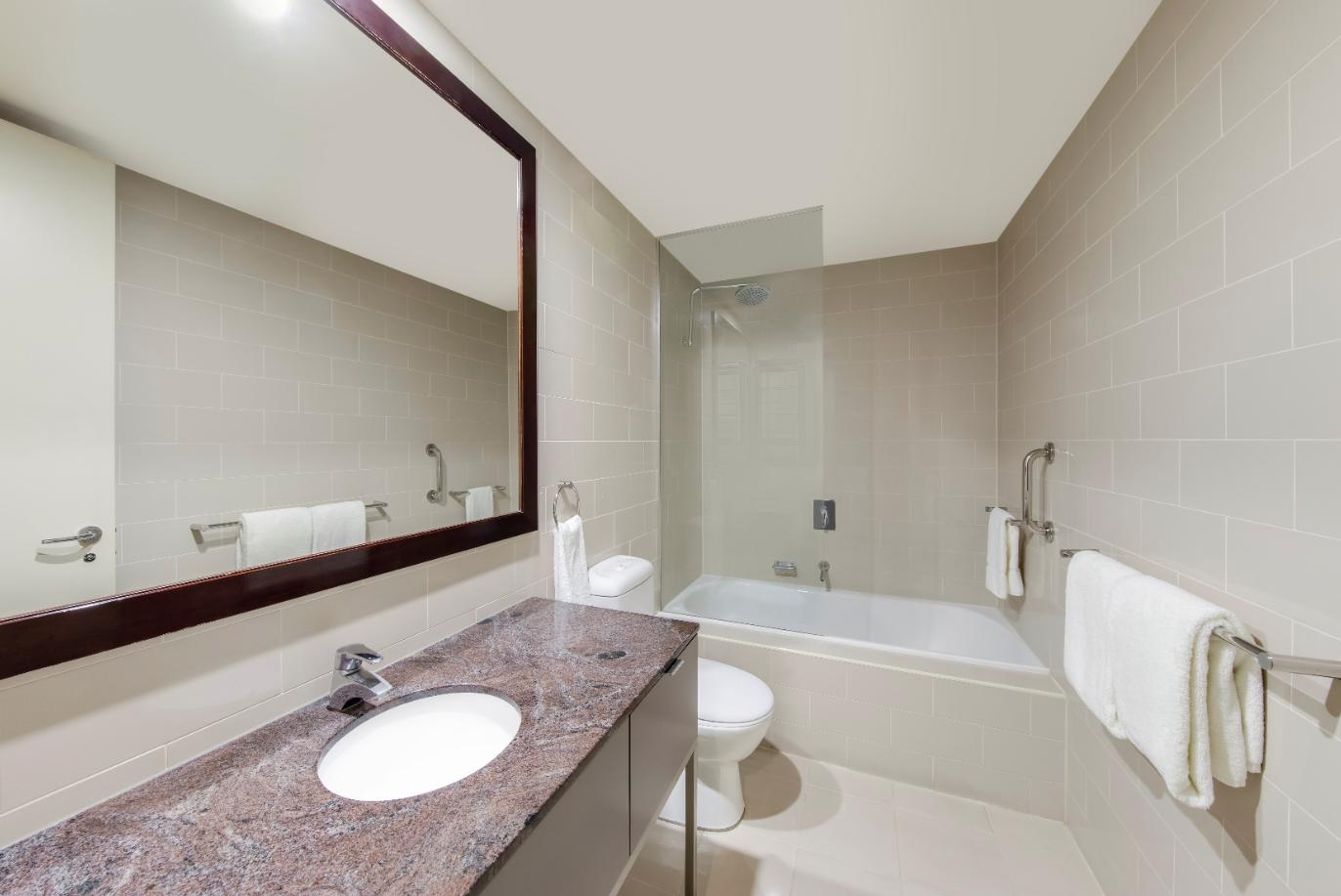 Bathroom at Adina Apartment Hotel Adelaide Treasury, Centre, Adelaide - Citybase Apartments