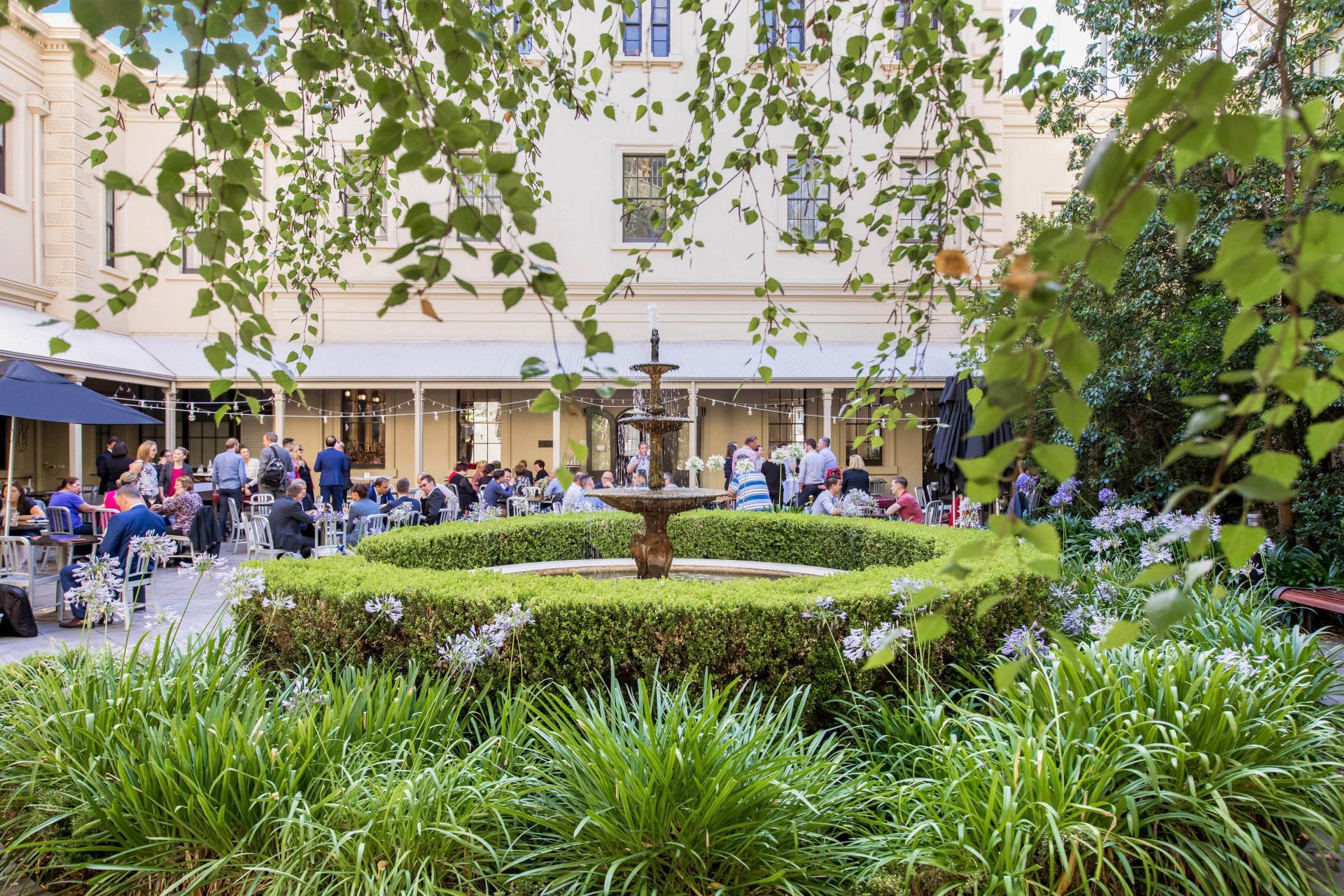 Courtyard at Adina Apartment Hotel Adelaide Treasury, Centre, Adelaide - Citybase Apartments
