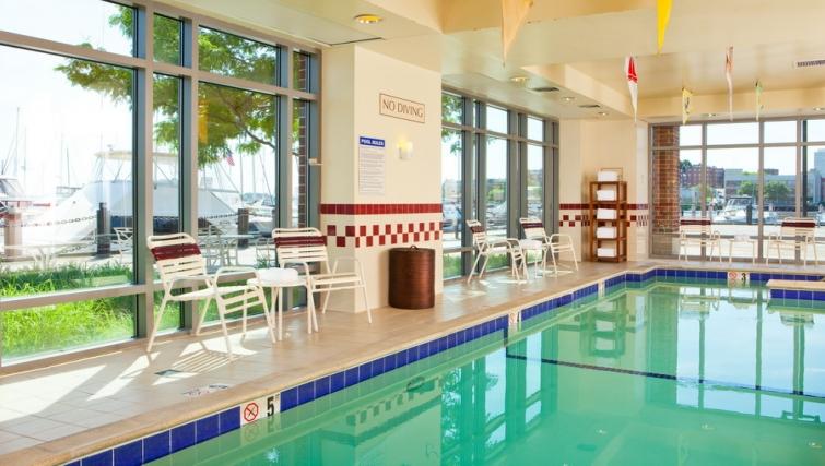 Tranquil pool in Residence Inn Boston Harbor on Tudor Wharf - Citybase Apartments