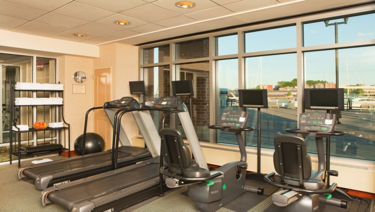 Well equipped gym in Residence Inn Boston Harbor on Tudor Wharf - Citybase Apartments