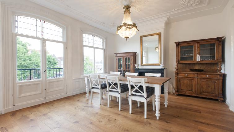 Large dining area at Marite Apartments, Amsterdam - Citybase Apartments