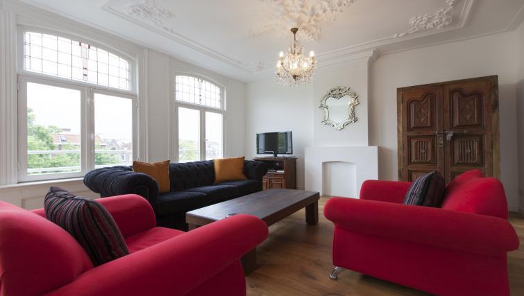 Elegant living area at Marite Apartments, Amsterdam - Citybase Apartments