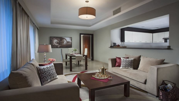 Modern living area in Hyatt Residence Doha West Bay - Citybase Apartments