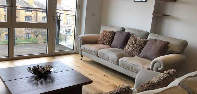 Two bedroom living area at Kew Bridge Piazza Apartments - Citybase Apartments