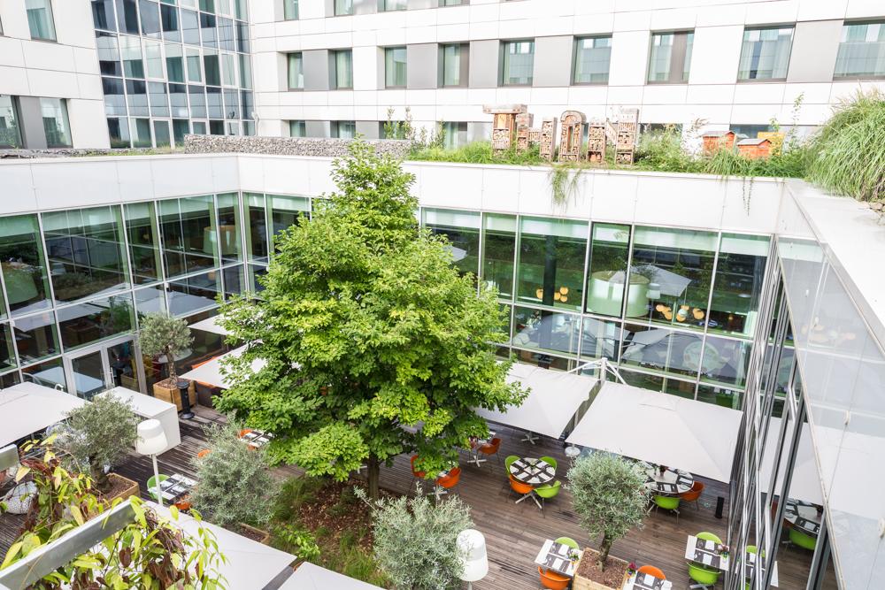 Garden terrace in Thon Residence EU - Citybase Apartments