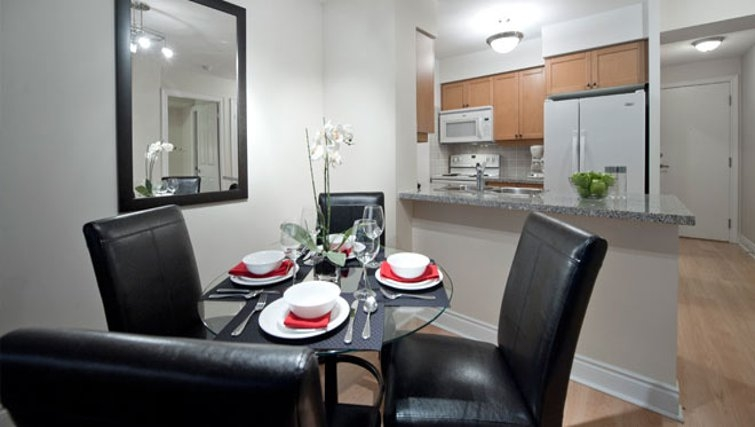 Modern dining area in Meridian Apartments - Citybase Apartments