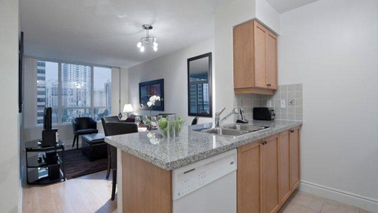 Stylish kitchen in Meridian Apartments - Citybase Apartments