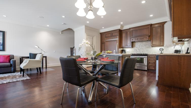 Dining area at Meridian Apartments - Citybase Apartments