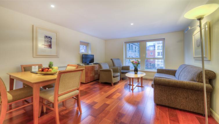 Living area at Holyrood Aparthotel - Citybase Apartments