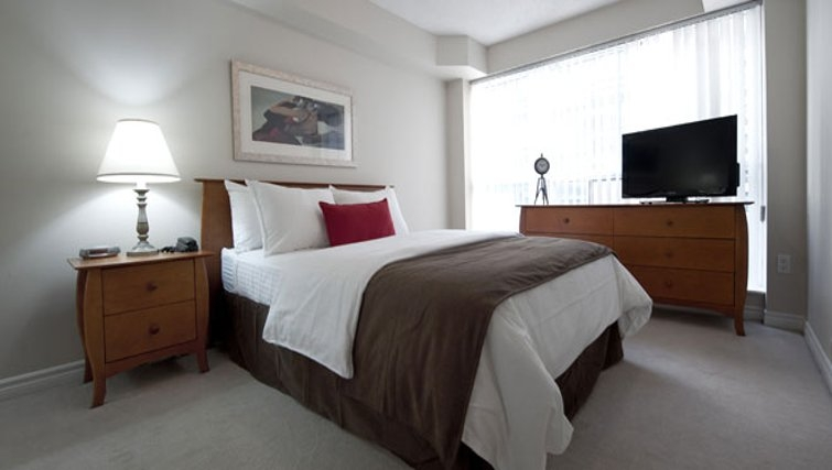 Delightful bedroom in Icon Apartments - Citybase Apartments