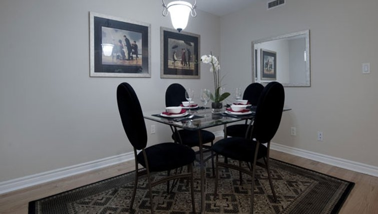Classy dining area in Icon Apartments - Citybase Apartments