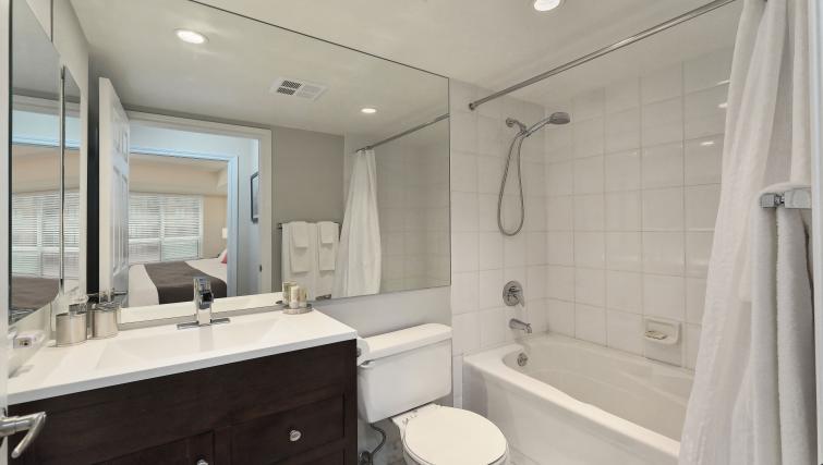 Bathroom at Qwest Apartments - Citybase Apartments