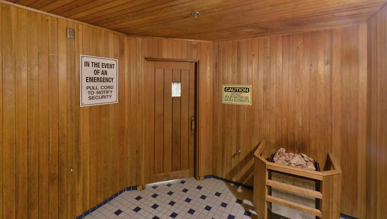 Sauna at Qwest Apartments - Citybase Apartments