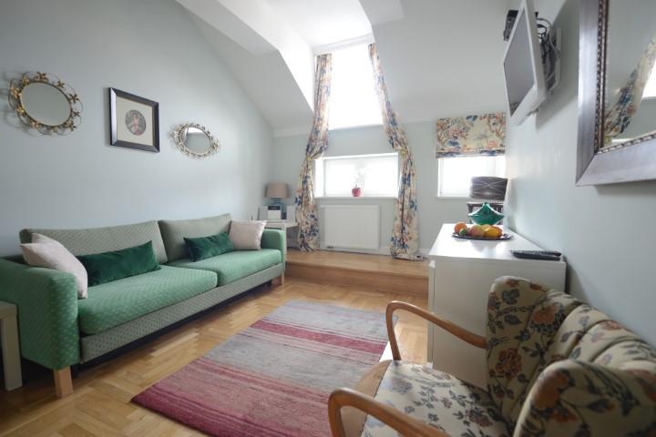 Living room at Rosa and Manka Apartments - Citybase Apartments