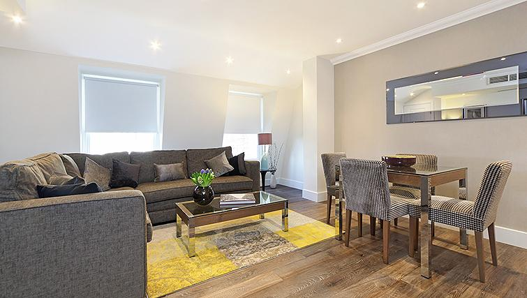 Stylish living area in Ashburn Court Apartments - Citybase Apartments