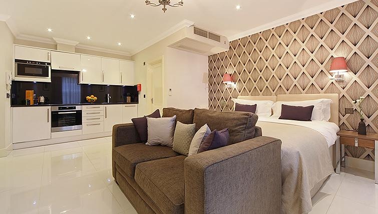 Open plan living area at Ashburn Court Apartments - Citybase Apartments