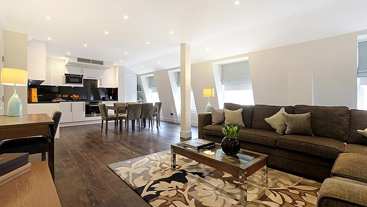 Contemporary living area in Ashburn Court Apartments - Citybase Apartments