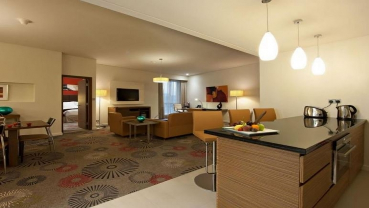 Spacious living area in Crowne Plaza Doha - The Business Park - Citybase Apartments